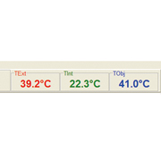 optris Connect digital display of temperature values